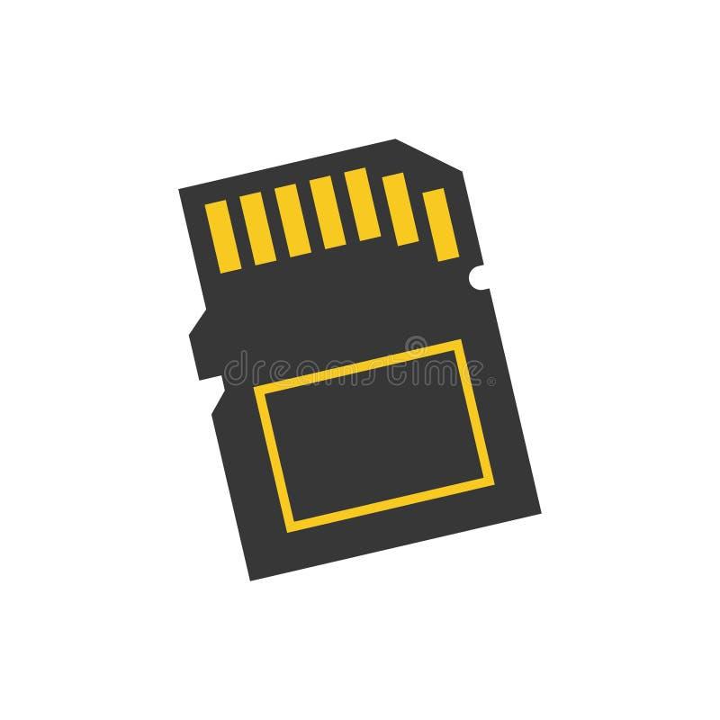 pamięć karciany mikro sd ilustracja wektor