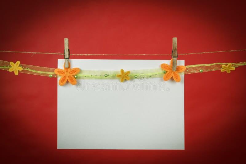 Pamięć nutowy papier z kwiatami obraz royalty free