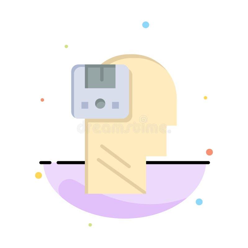 Pamięć, Oprócz, dane, użytkownik, Męski Biznesowy logo szablon p?aski kolor ilustracji