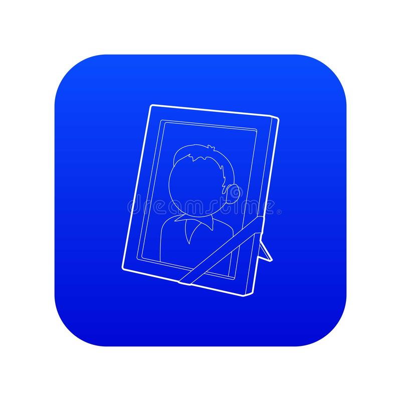 Pamięć portreta ikony błękita wektor royalty ilustracja
