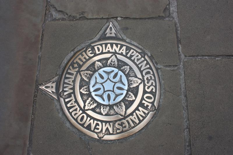 Pamięć Princess Diana na bruku chodniczek fotografia stock