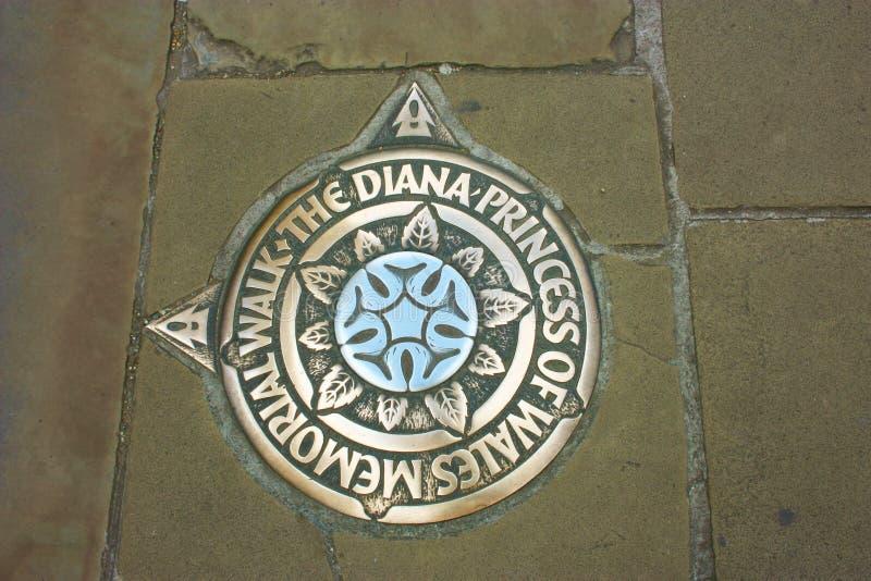 Pamięć Princess Diana na bruku chodniczek obrazy royalty free