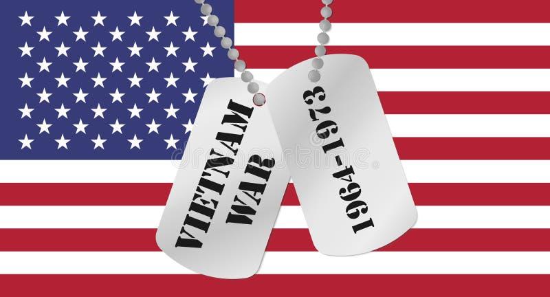 Pamięć wojna w wietnamie ilustracja wektor