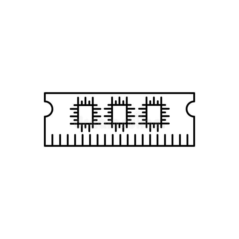 Pamięci ikona, RAM ikona ilustracja wektor