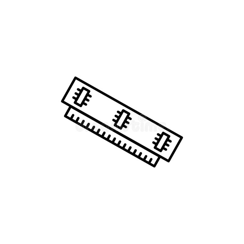 Pamięci ikony wektor, RAM ikony wektor RAM ikona royalty ilustracja