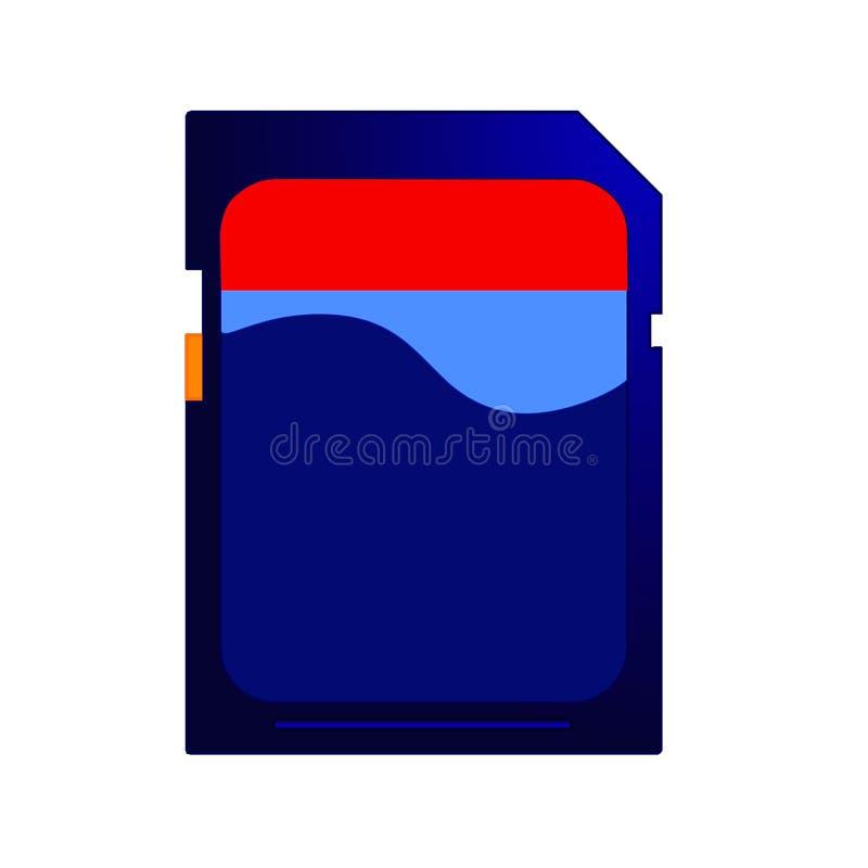 Pamięci SD karta ilustracji