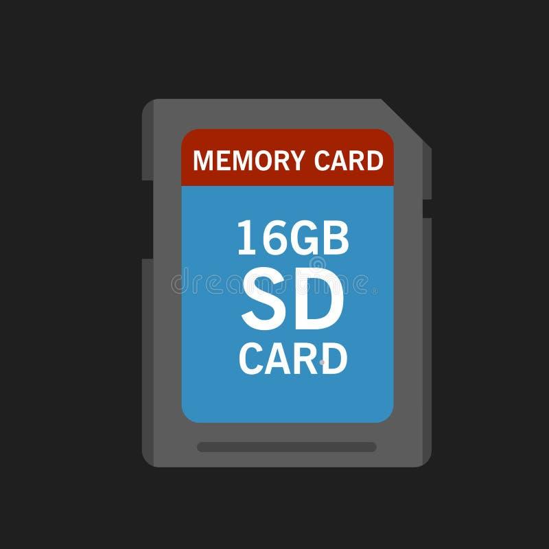 Pamięci SD karta ilustracja wektor