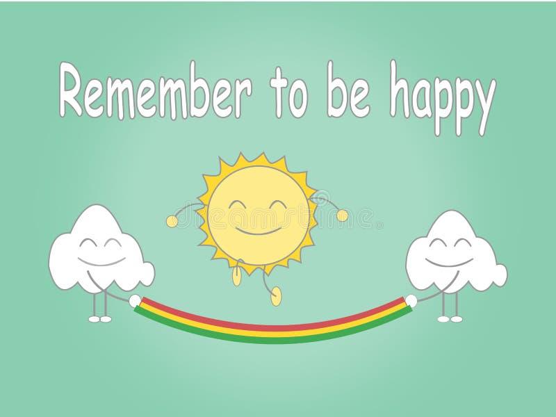 Pamięta być szczęśliwy ilustracji