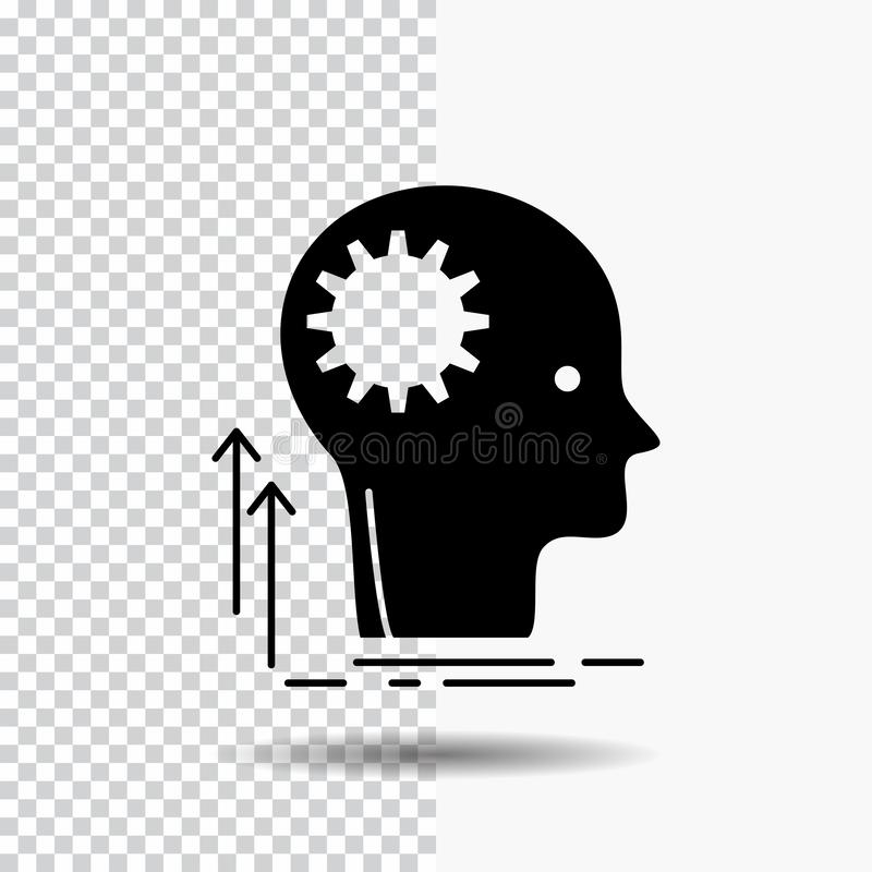 Pamięta, Kreatywnie, główkowanie, pomysł, brainstorming glifu ikona na Przejrzystym tle Czarna ikona ilustracji
