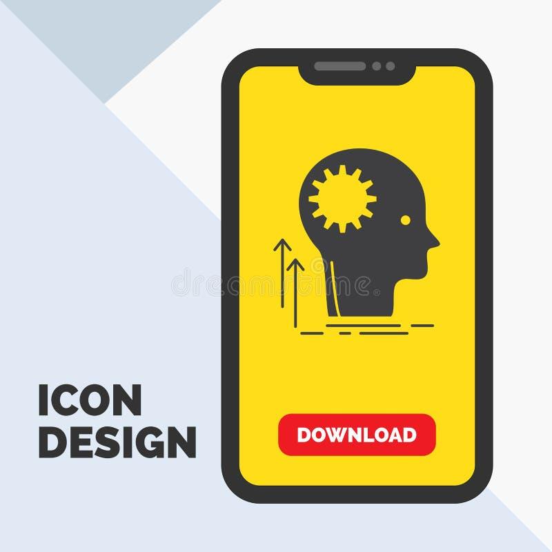 Pamięta, Kreatywnie, główkowanie, pomysł, brainstorming glifu ikona w wiszącej ozdobie dla ściąganie strony ? ilustracja wektor
