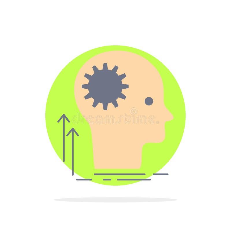Pamięta, Kreatywnie, główkowanie, pomysł, brainstorming koloru ikony Płaski wektor ilustracja wektor