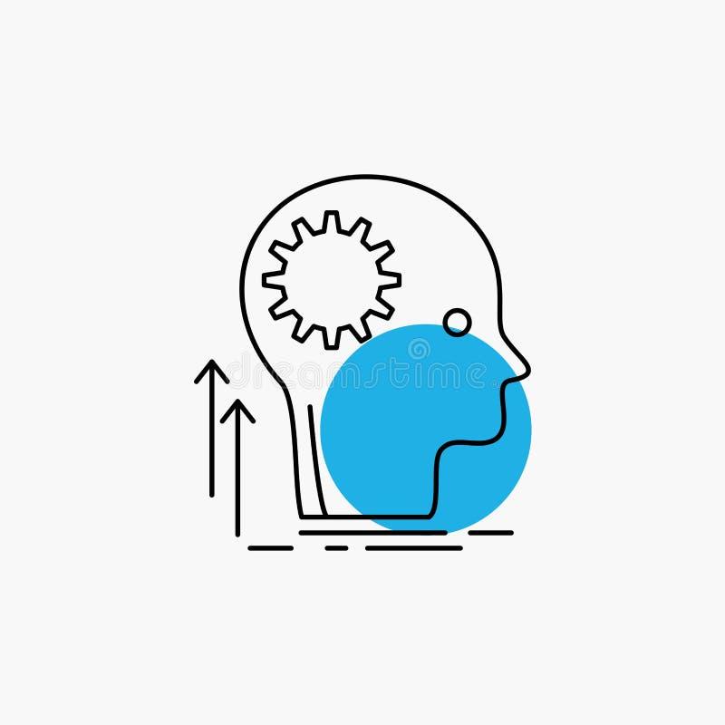 Pamięta, Kreatywnie, główkowanie, pomysł, brainstorming Kreskowa ikona ilustracji