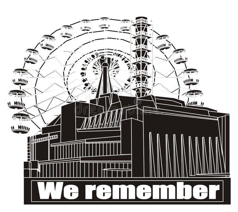 Pamiętamy Chernobyl royalty ilustracja