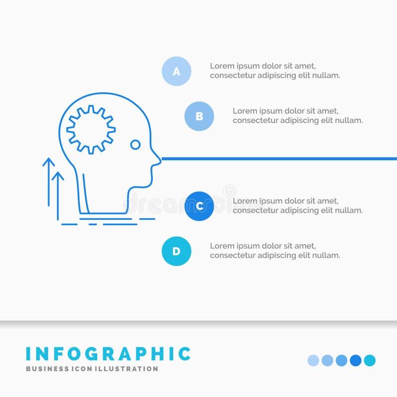 Pami?ta, Kreatywnie, g??wkowaniu, pomysle, brainstorming Infographics szablonie dla strony internetowej i prezentacjo, Kreskowej  ilustracja wektor