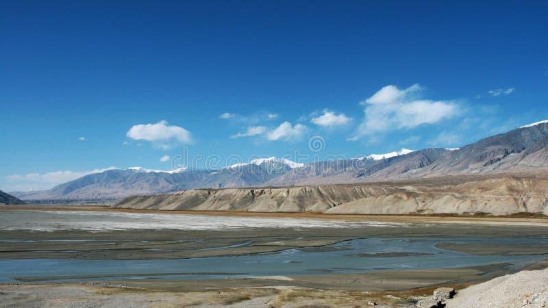 Pamirs altiplano lake royalty free stock photos