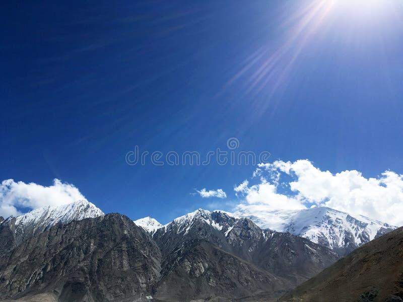 Pamirs krajobraz obraz stock