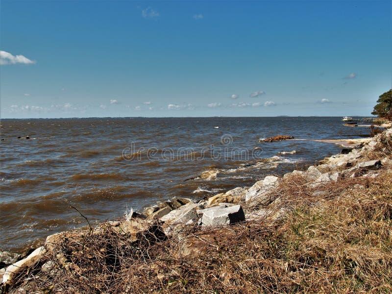 Pamlicogeluid op het Noorden Carolina Outer Banks royalty-vrije stock afbeelding