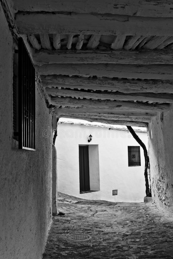 Pampaneira Street, Alpujarra royalty free stock images