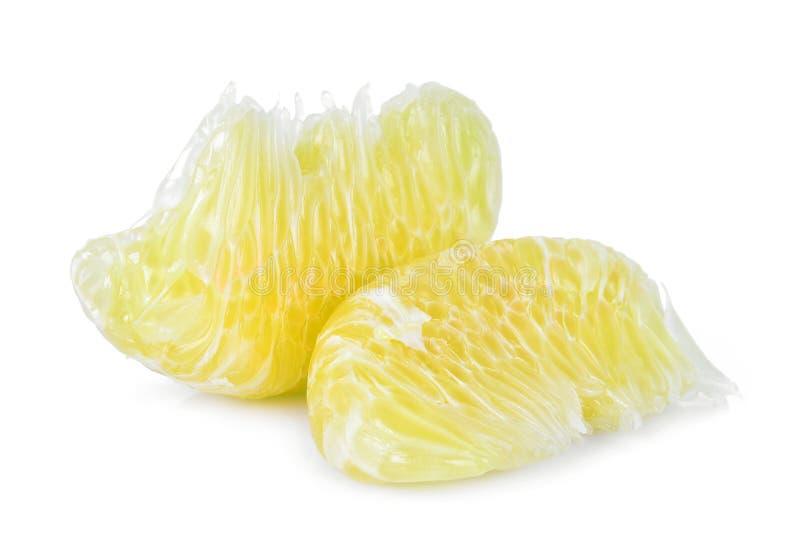 PampelmusenZitrusfrucht, tropische Frucht lokalisiert auf Weiß lizenzfreie stockfotos
