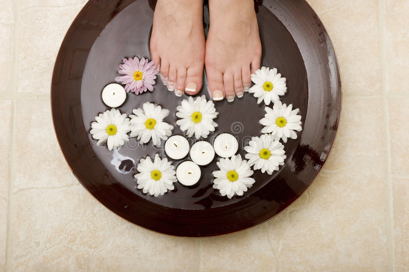 Pampered Feet Stock Image