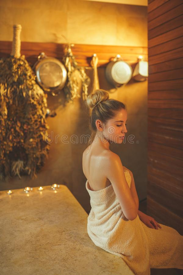 Pampering royalty free stock photography