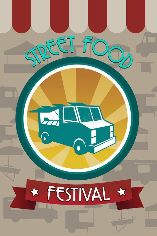 Pamphlet di festival dell'alimento della via royalty illustrazione gratis