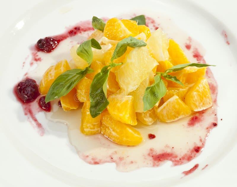 Pamplemousse d'orange de salade de fruits photo stock