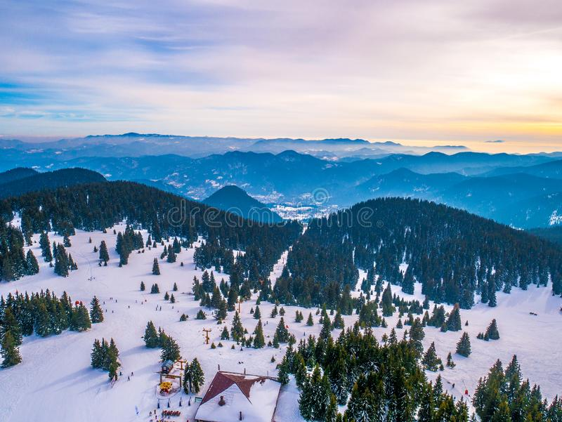 Pamporovo - View from Snezhanka tower, Bulgaria. N stock photography