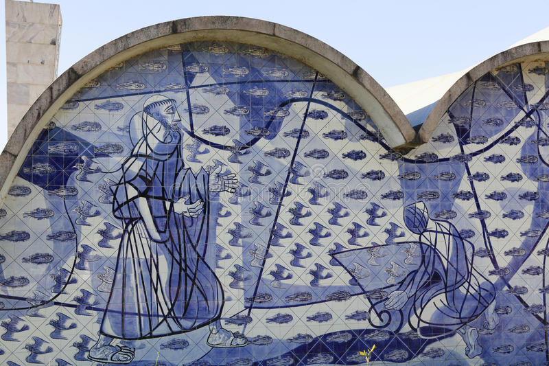 Pampulha kyrka i Belo Horizonte, Brasilien royaltyfria bilder