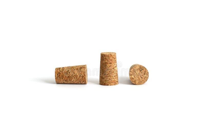 Pampur drei oder Korken für Glasflaschen stockbild