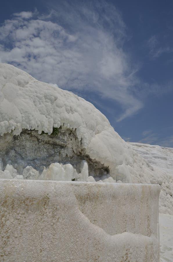 Pamukkale é um local natural do patrimônio mundial do UNESCO imagens de stock