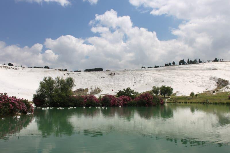 Pamukkale в Турции стоковое изображение