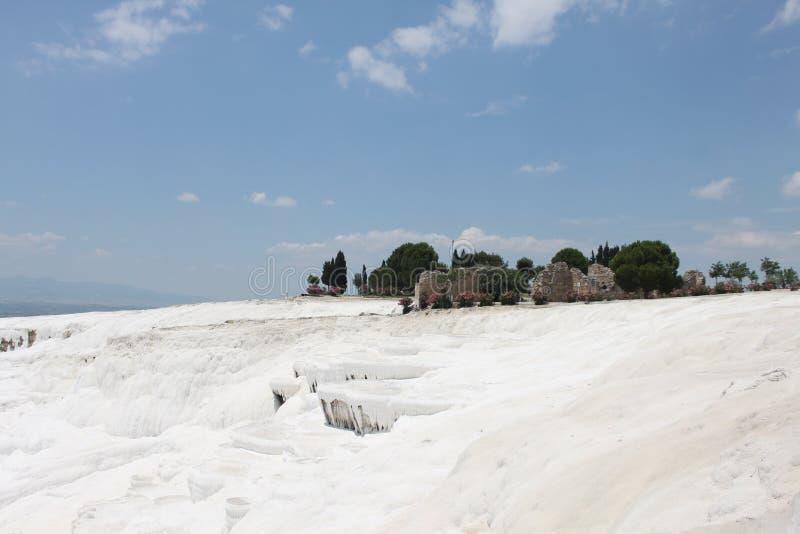 Pamukkale в Турции стоковое фото rf