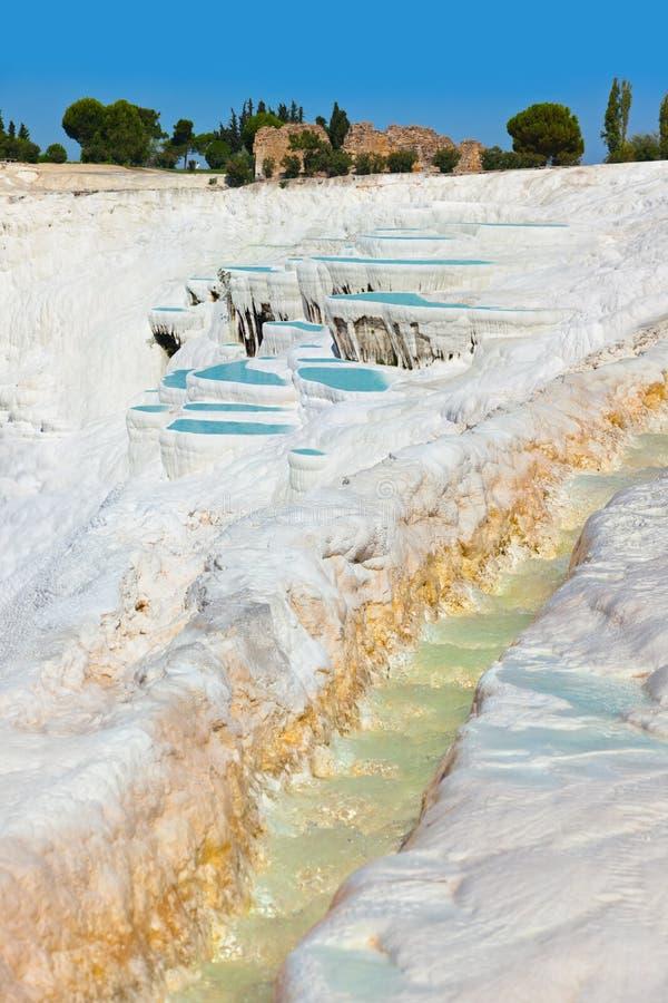 Download Pamukkale Турция стоковое изображение. изображение насчитывающей геология - 33736937