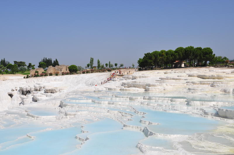 Pamukkale royalty-vrije stock afbeelding