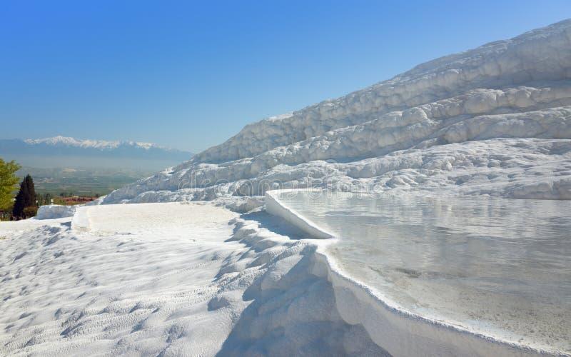 Pamukkale blanc, Turquie photos libres de droits