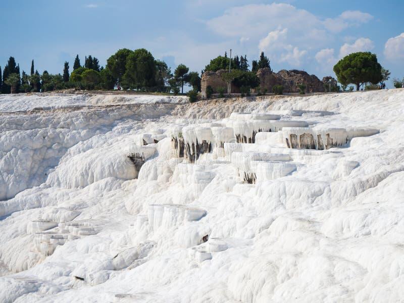Pamukkale el castillo del algodón imagen de archivo