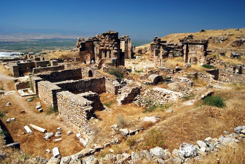 Pamukkale - Hierapolis - Martyrion royalty-vrije stock fotografie