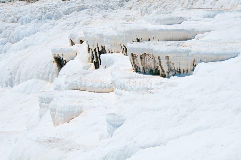 Pamukkale, local natural na província de Denizli em Turquia do sudoeste fotos de stock