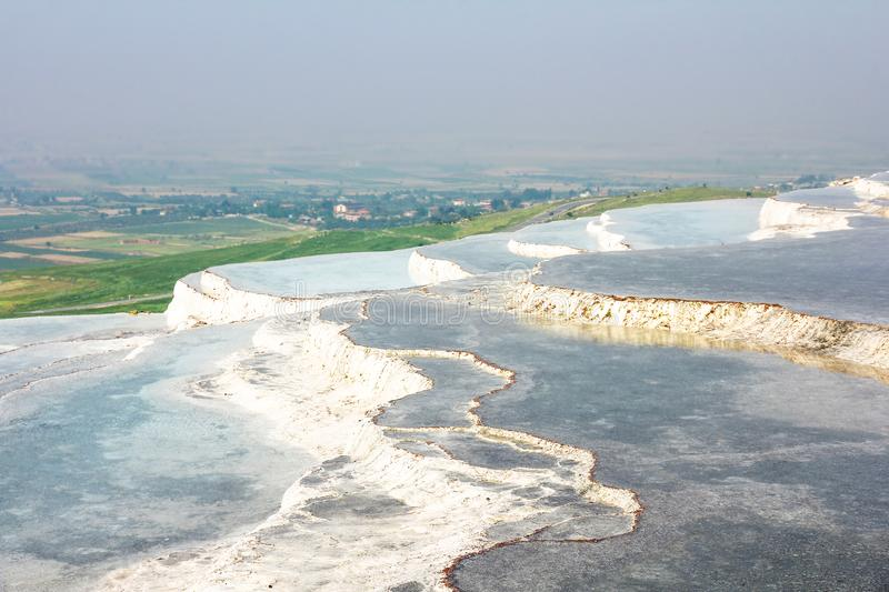 Pamukkale, natural travertine pools in Turkey stock photography