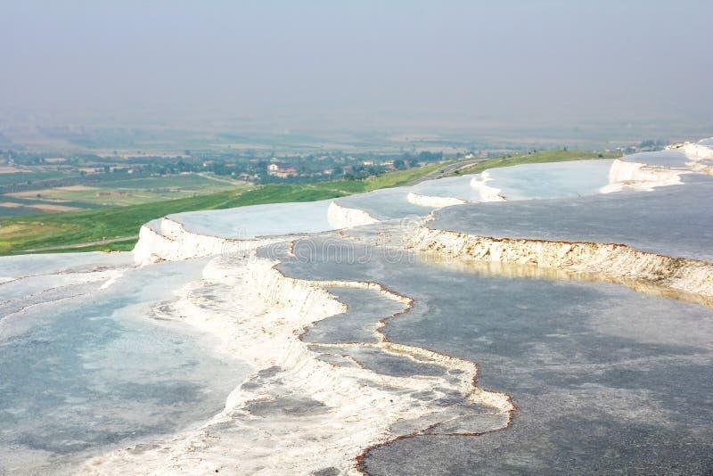 Pamukkale, natuurlijke travertijnpools in Turkije stock fotografie