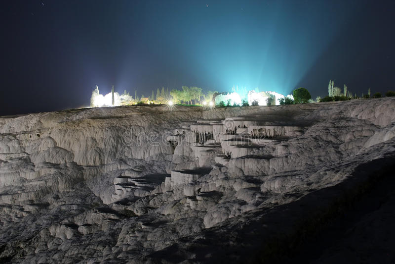 Pamukkale, natuurlijke wonder in Turkije royalty-vrije stock afbeeldingen