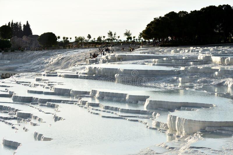 Pamukkale travertine terraces royalty free stock photos