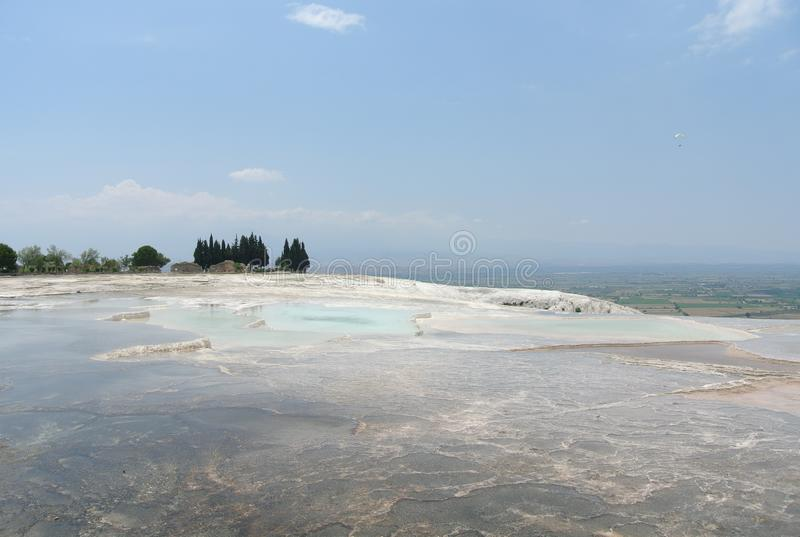 Pamukkale, travertino, NatureMiracle, natureza, milagre, Turquia fotografia de stock