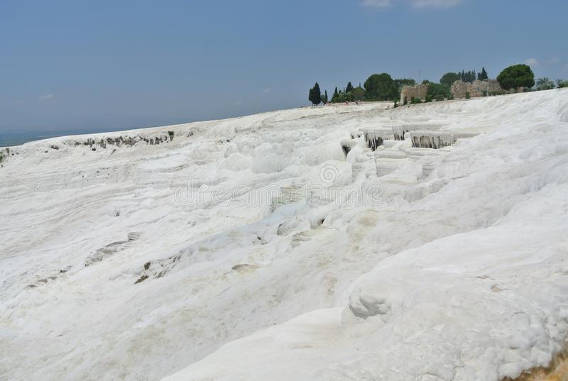 Pamukkale, travertino, NatureMiracle, natureza, milagre, Turquia fotos de stock