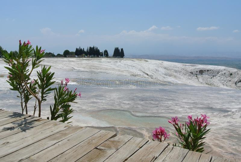 Pamukkale, travertino, NatureMiracle, natureza, milagre, Turquia foto de stock