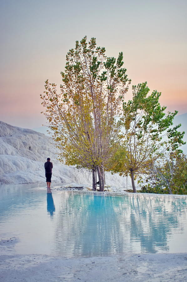 Pamukkale, Turchia fotografie stock
