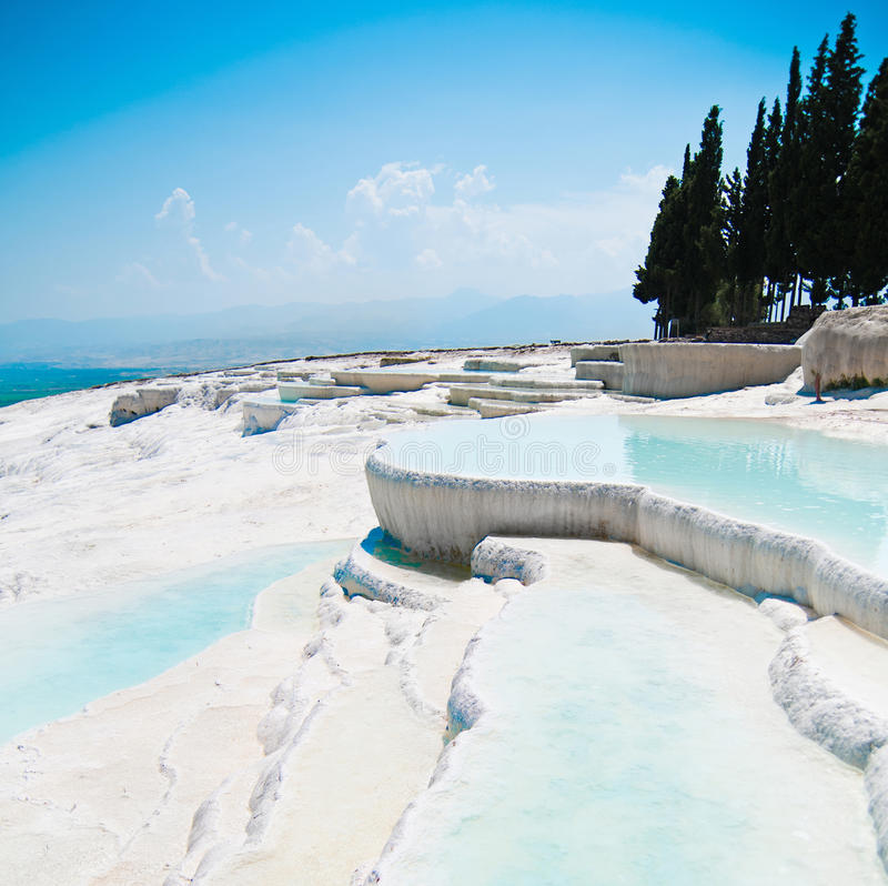 Download Pamukkale in Turkey stock photo. Image of famous, carbonate - 27548238