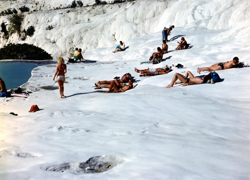 Pamukkale, Turley photos stock