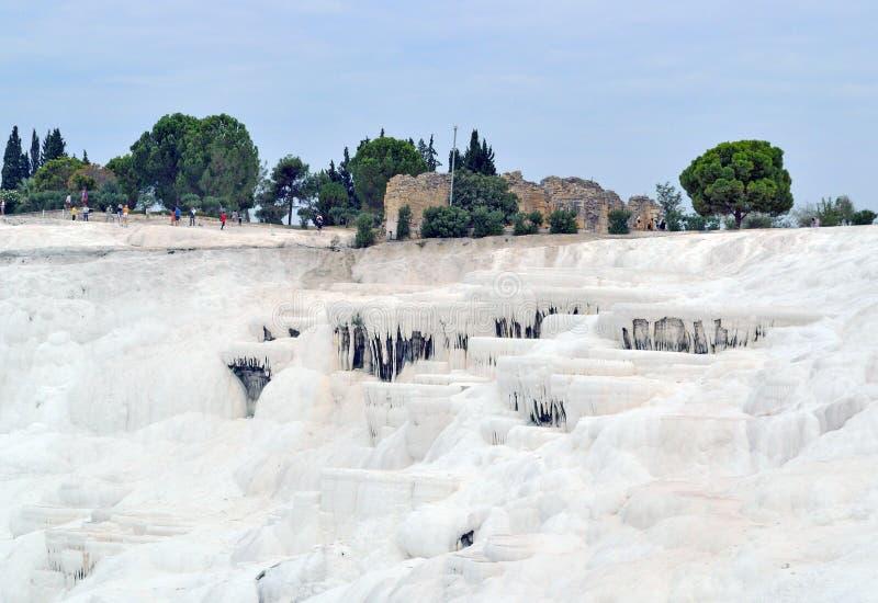 Pamukkale - un emplazamiento turístico en la provincia de Denizli, Turquía, i imagenes de archivo